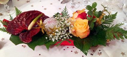 exemple de d�coration florale pour un mariage ou bapt�me