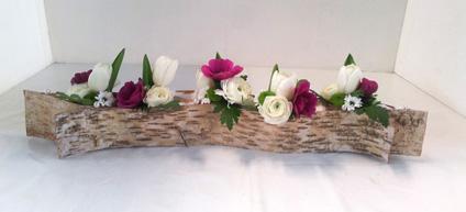 exemple de décoration florale pour un mariage ou baptême