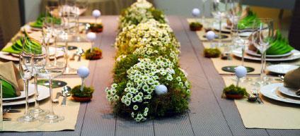 exemple de décoration pour réception et événement divers