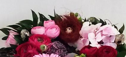 Création d'une couronne de fleurs